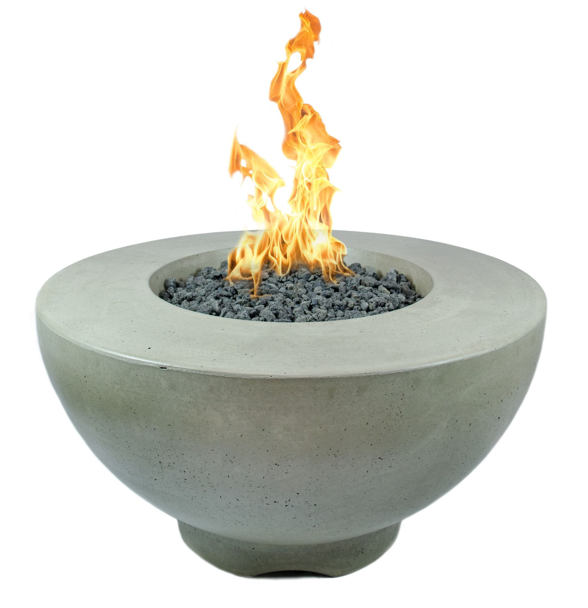 Sienna concrete natural gas fire pit gas fire pits gas fires and