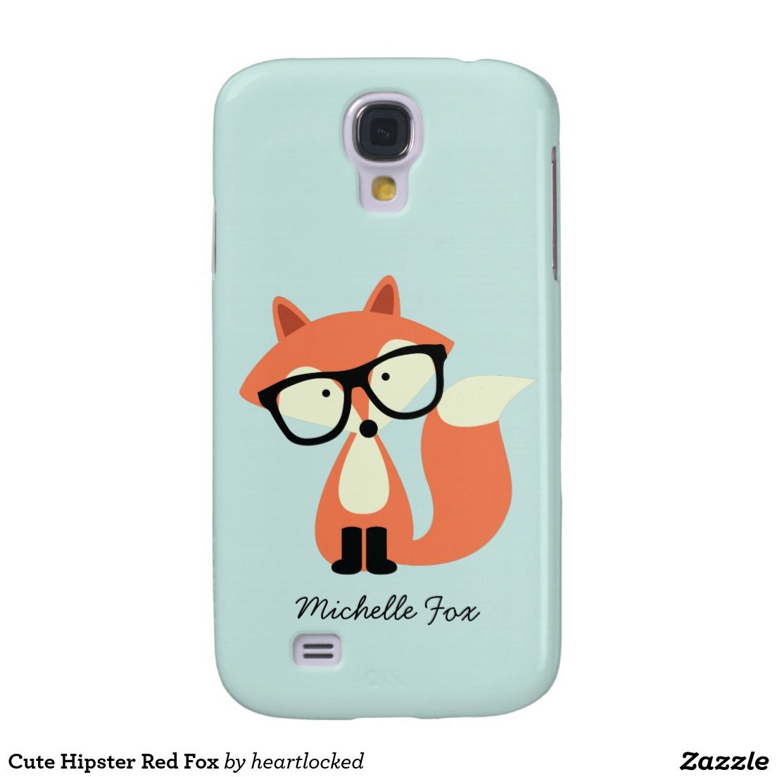 Cute Hipster Red Fox Galaxy S4 Covers