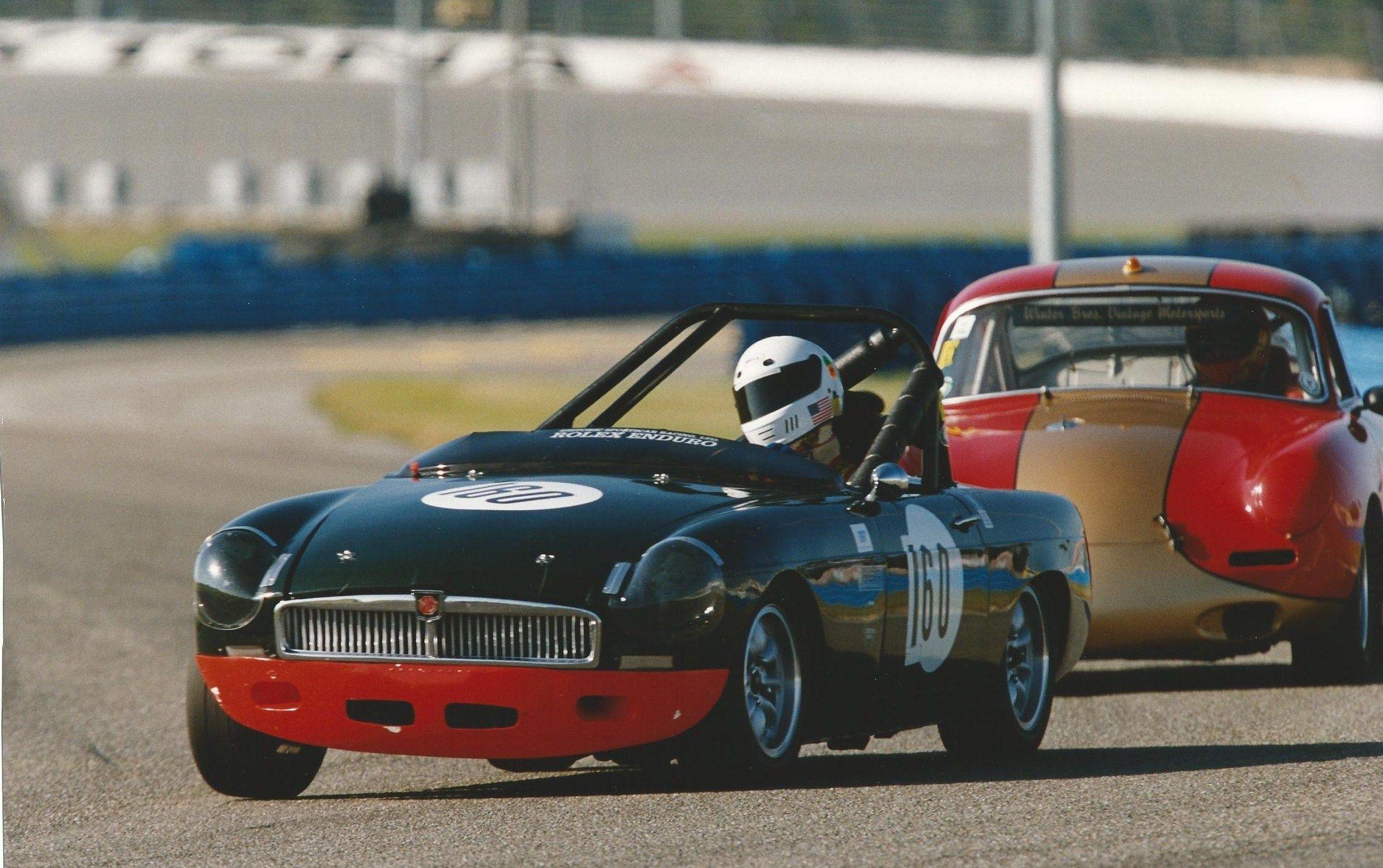 The Apexautolines/Dart Motorsports vintage MGB at Daytona HSR races ...