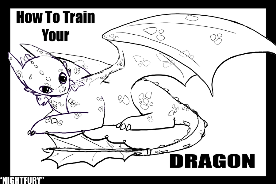 Toothless Lineart by Art-BandGeek | Birthday | Pinterest | Toothless ...