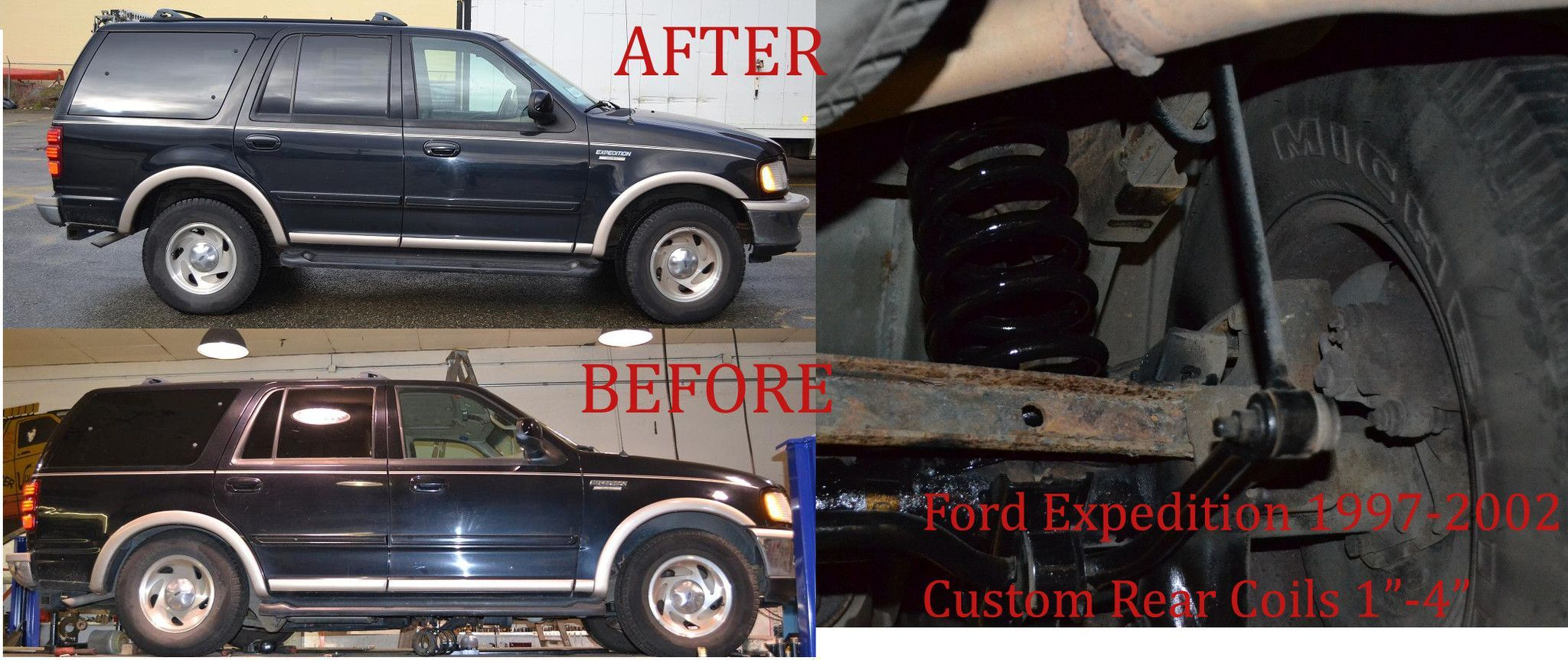 Ford expedition air bag to coil spring conversion 2 lift