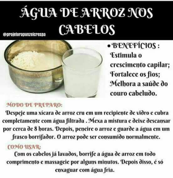 Agua De Arroz Hidratacao Para Cabelos Cacheados Dicas Pra