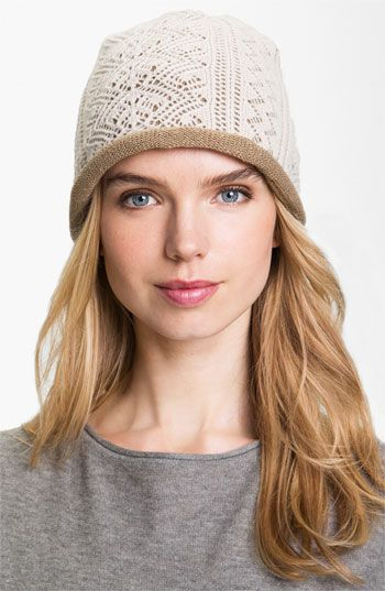 Laundry by Shelli Segal Lace Knit Beanie available at #Nordstrom