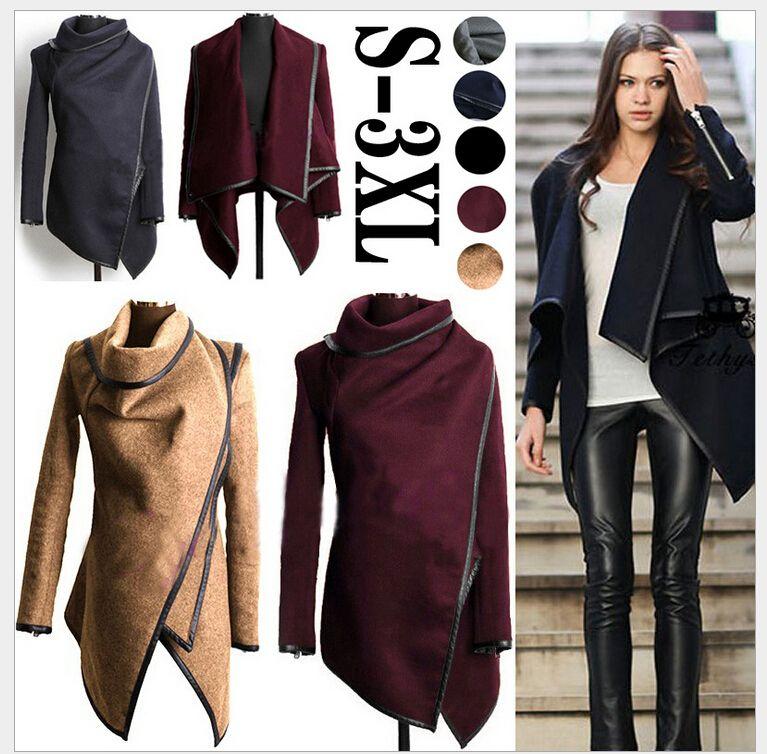 93515bd6a58 2014 casacos de inverno mulheres longo Cashmere casacos Trench Desigual  Plus size mulher casacos de lã Manteau Abrigos Mujer 5 cores em Sobretudos  de Roupas ...