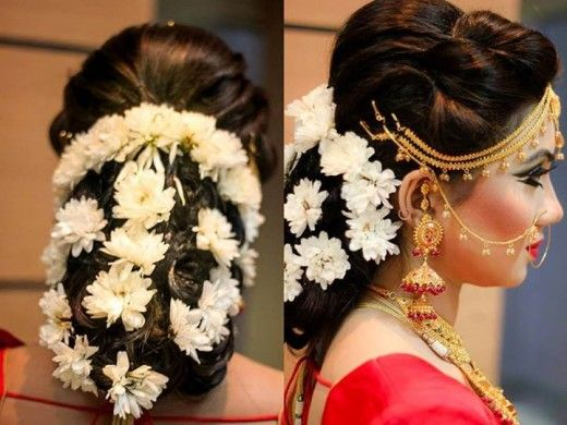 Best Bangladeshi Wedding Hairstyles South Indian Bride Hairstyle Indian Bride Hairstyle Bridal Hair Buns