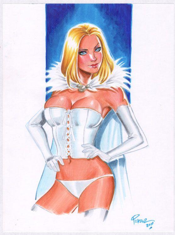 Rainha Branca - Copics por jFury