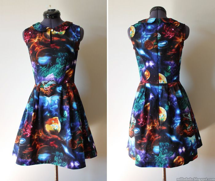 Simplicity 1419 space galaxy dress
