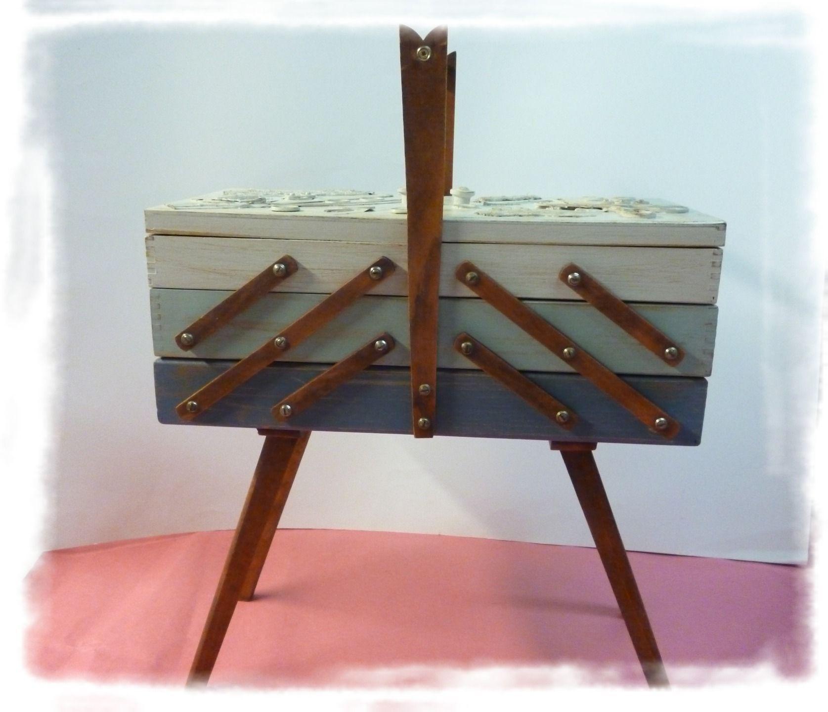 fabriquer une boite a couture en bois. Black Bedroom Furniture Sets. Home Design Ideas