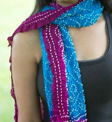 Purple and Turquoise?! Unexpected color combo on crepe silk..