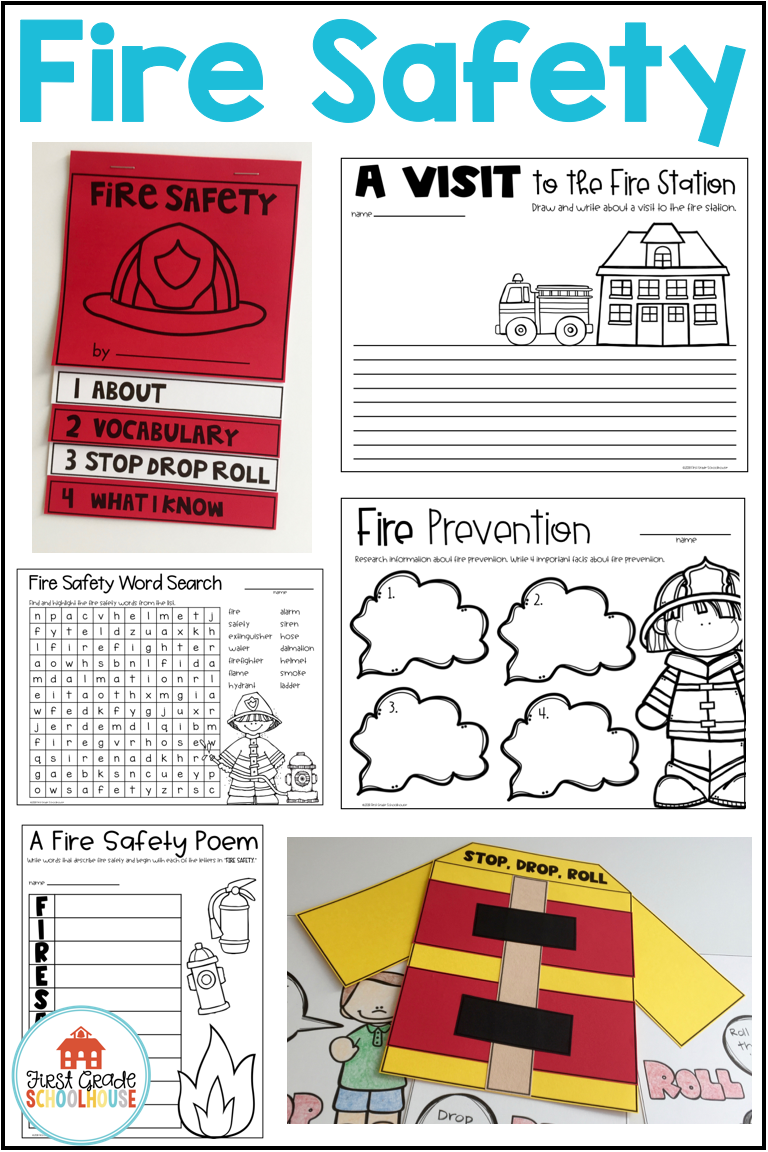 Learning About Fire Safety And Prevention Is Fun With These Activities That Are Perfect For Fire Prevent Fire Safety Booklet Fire Safety Activities Fire Safety [ 1152 x 768 Pixel ]