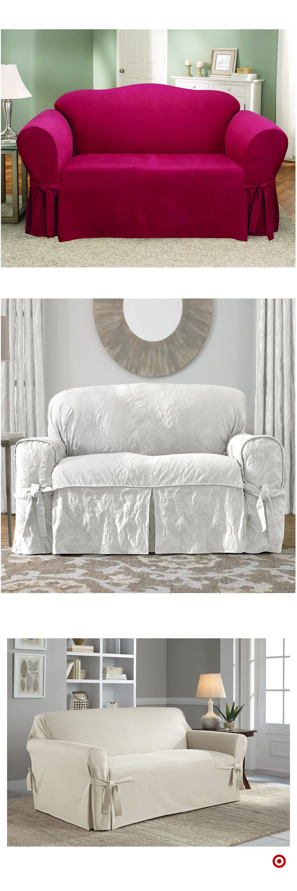 Shop Target For Loveseat Slipcover You Will Love At Great Low Prices Free Shipping On Orders Of 35 Or Free Same Day Loveseat Slipcovers Love Seat Slipcovers