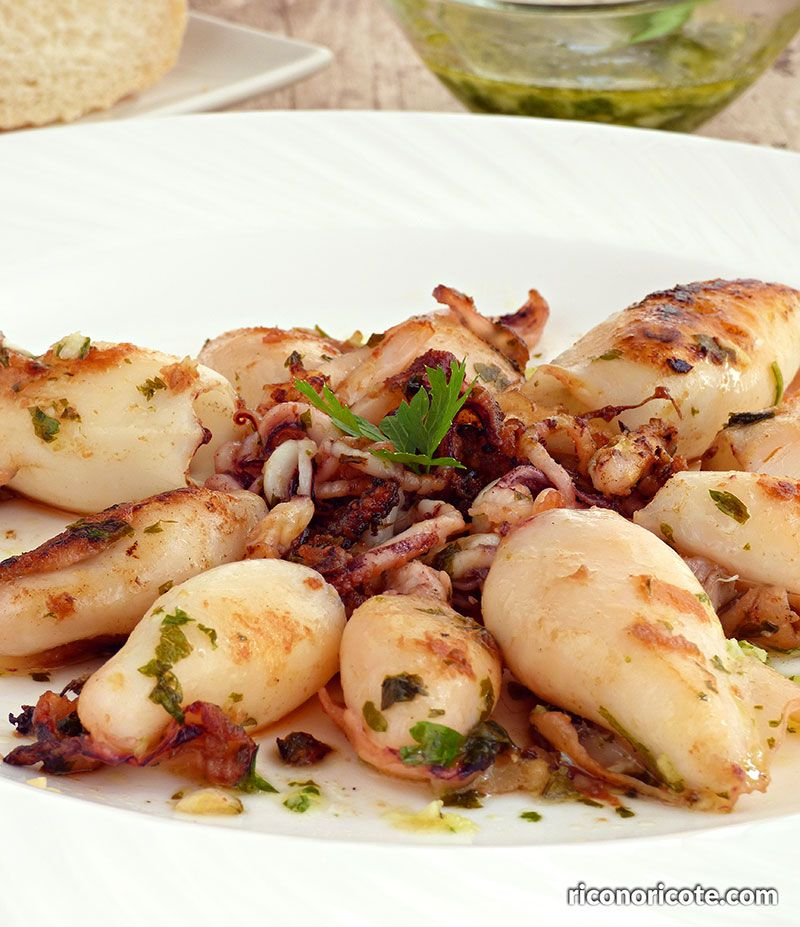 Calamares A La Plancha Con Salsa Verde Calamar A La