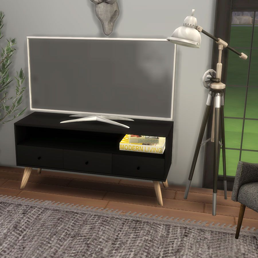 Leo sims 2 new meshes • coley chair • marlaw tv stand dowload at new site download