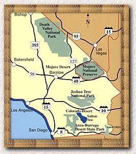 Mojave Desert In California Map.Map Of California S Desert Region California S Deserts