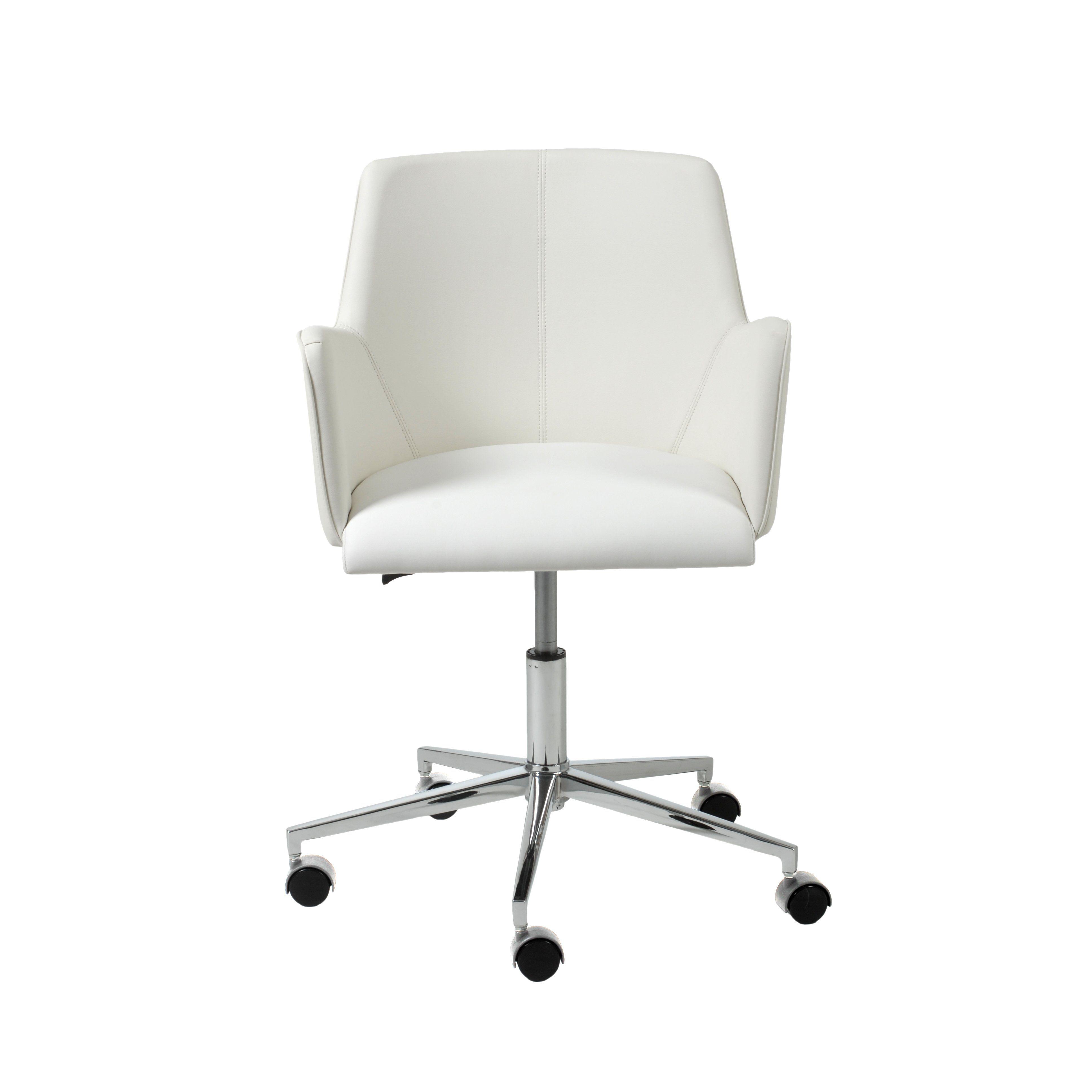 Maliah Task Chair White Office Chair White Leather Office Chair Comfy Office Chair