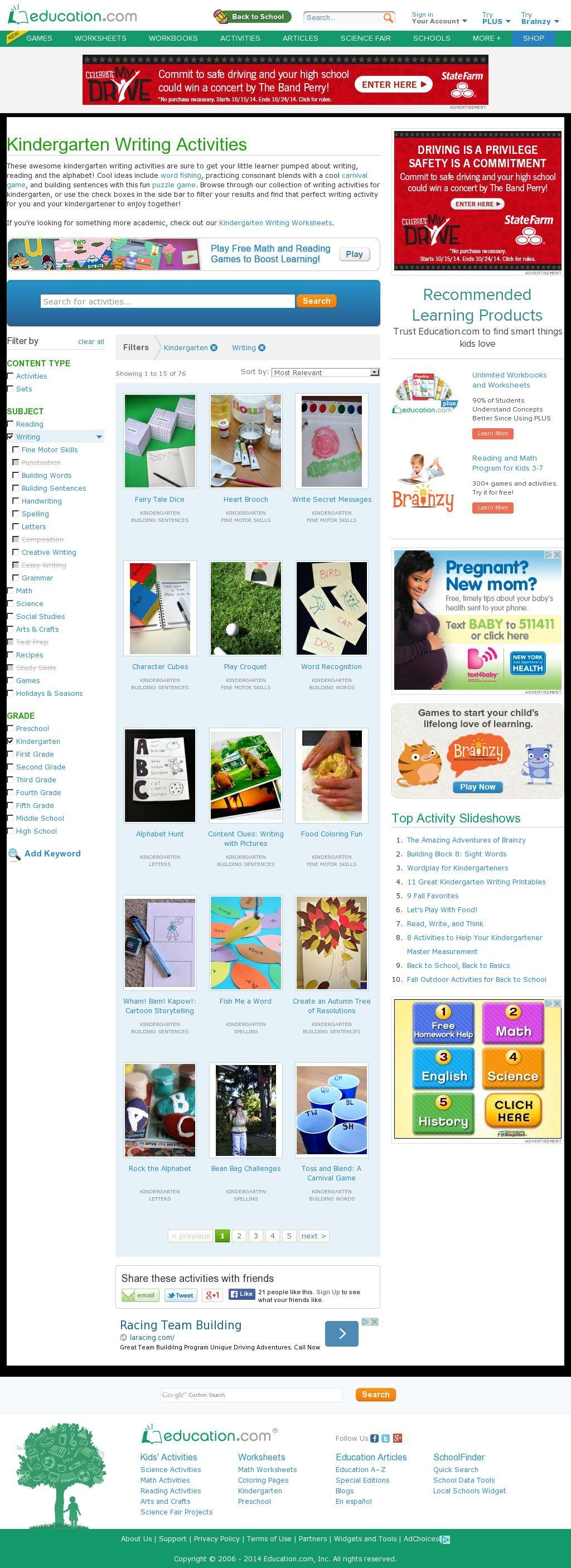 The Website Cation Activity Kindergarten