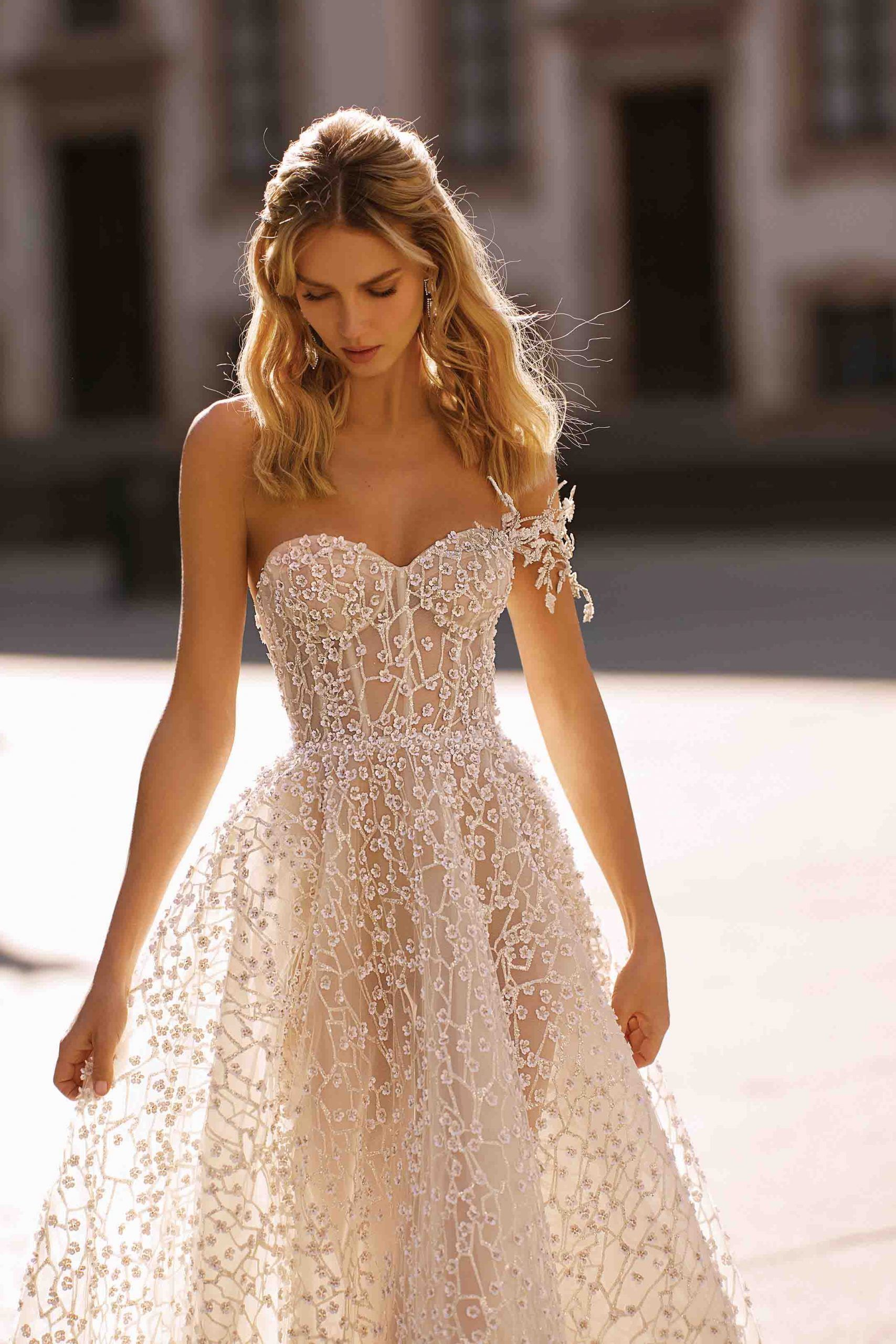 Want to stay on top of 2020's hottest wedding dress styles? Check out these 24 hot picks to get glamorous wedding dress inspiration here.  #2020WeddingDresses #WeddingTrends #ElegantWeddingDresses #DreamWeddingDresses #BertaBridal