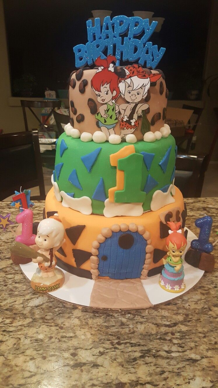 Pebbles And Bam Bam Birthday Cake Cake Decorating