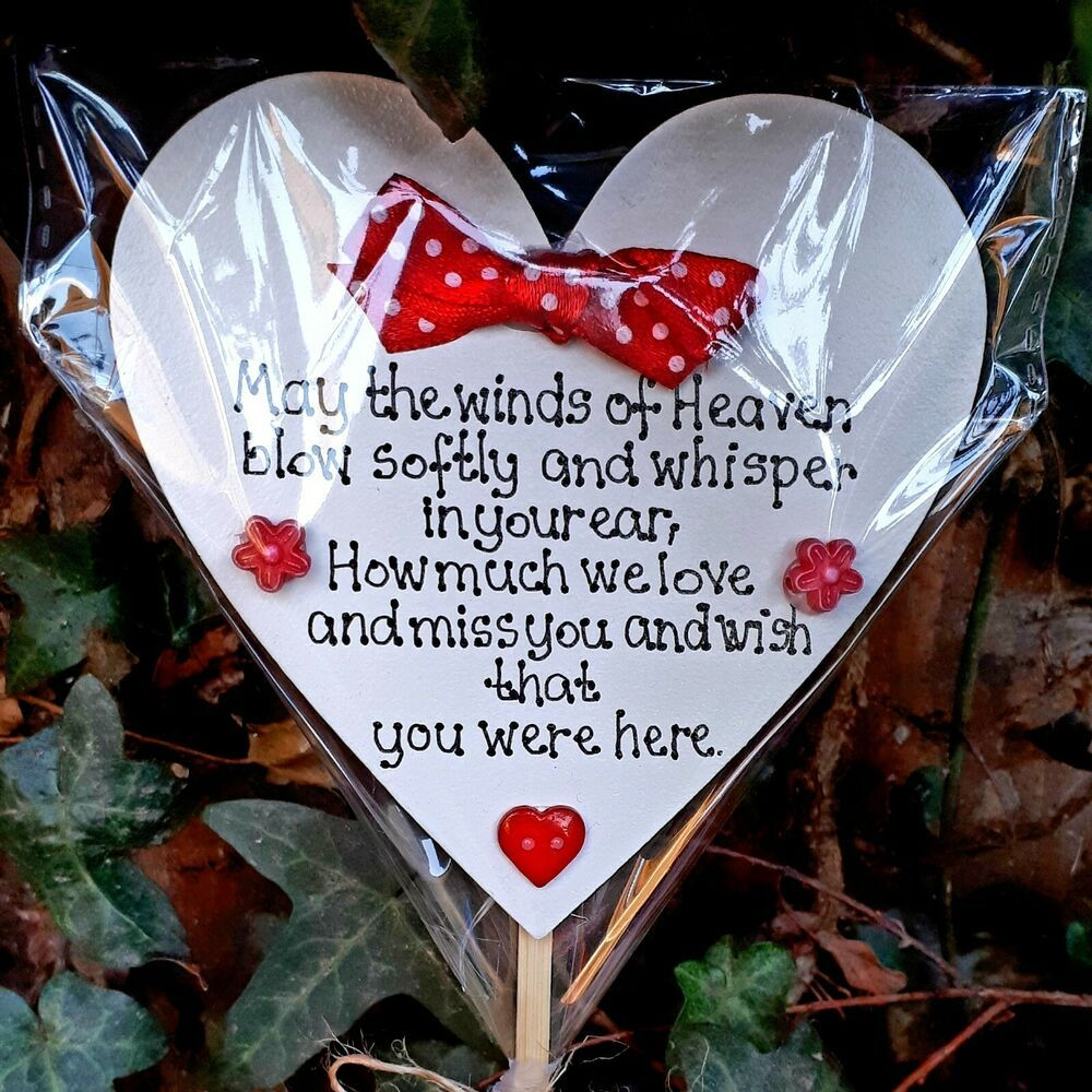 Details About Grave Memorial Love Ornament Funeral Personalised