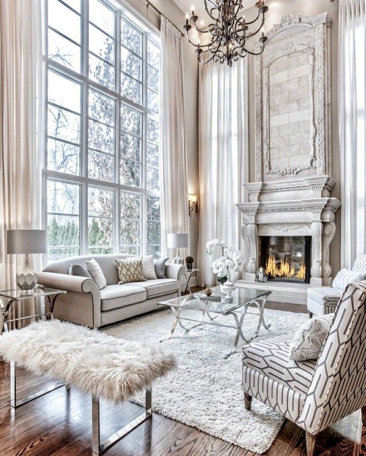 Meuble De Salle De Sejour Minimaliste Furnituresurabaya Furniturelivingrooms In 2020 Living Room With Fireplace Trendy Living Rooms Luxury Living Room