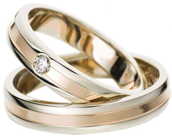 White And Rose Gold Wedding Ring The Wedding Band Shop Wedding Rings Sets Gold Gold Wedding Rings Wedding Rings Rose Gold