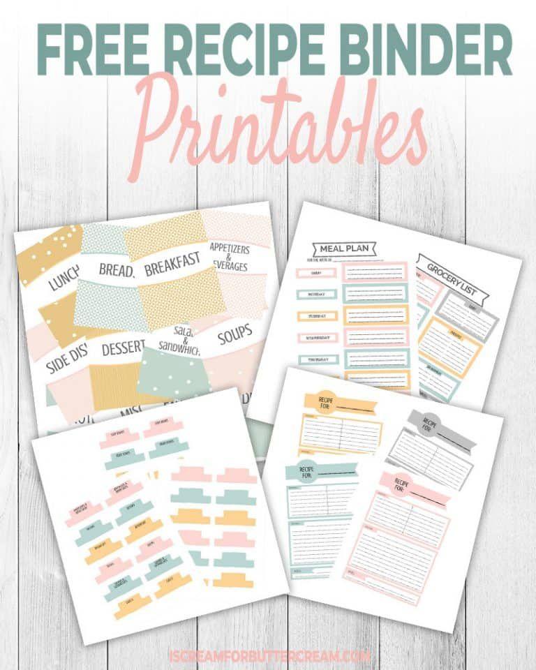 Printable Recipe Binder Recipe Binder Printables Free Recipe Binder Recipe Binder Printables