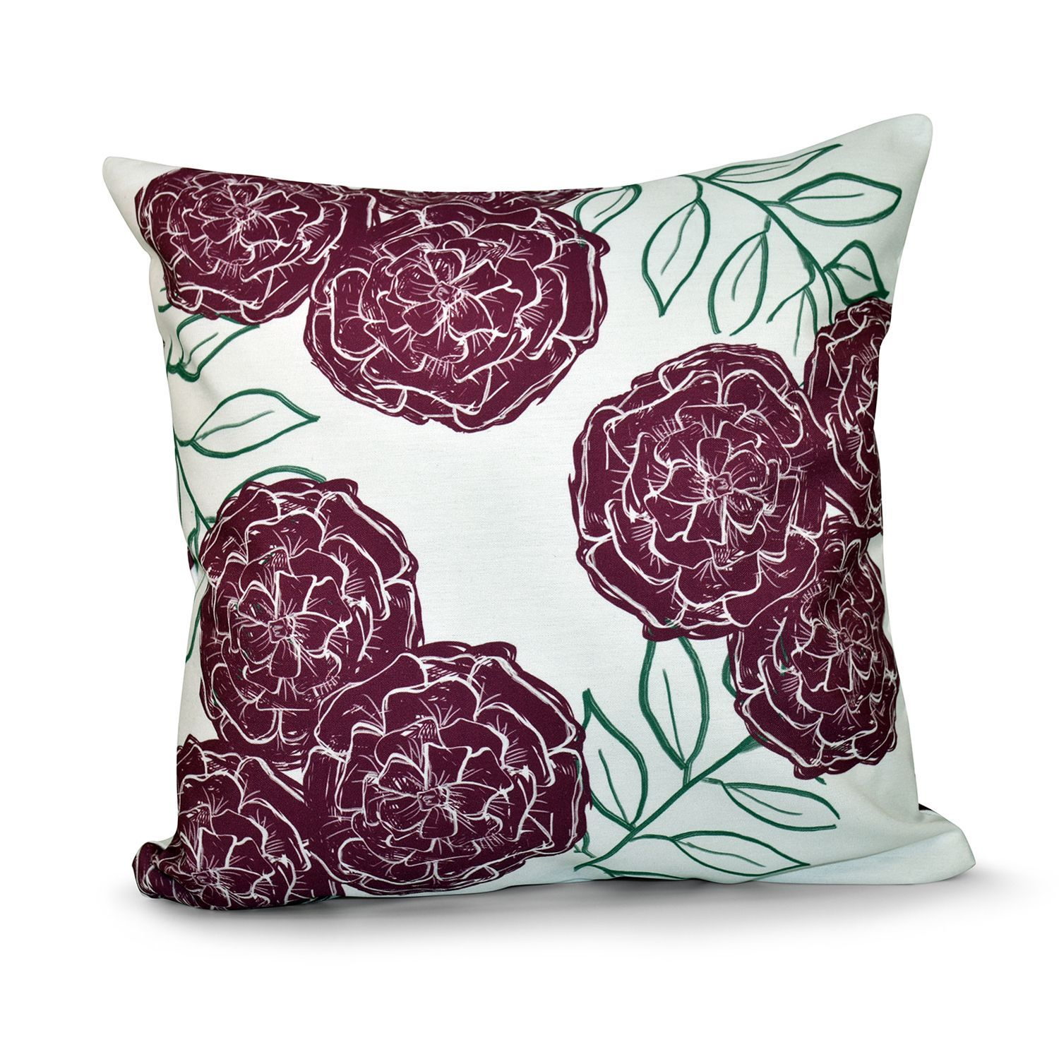 Zinnia floral x inch outdoor pillow by e by design products