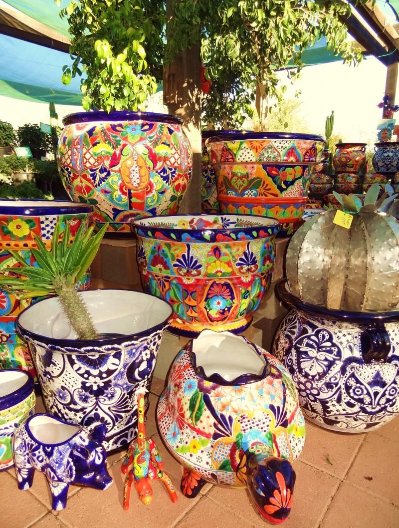 Talavera ceramic birdbaths eclectic bird baths phoenix by - Desert Gardens Nursery Talavera Pottery