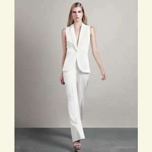 White Pant Suit For Bride Wedding Women Over 40 Wedding 2 In 2019