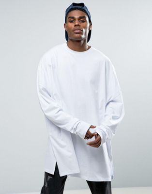 d0ae5b9b81ea51 ASOS Long Sleeve Extreme Oversized T-Shirt With Super Long Sleeve In White