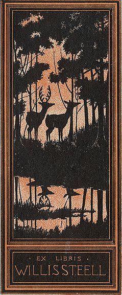 Deer bookplate