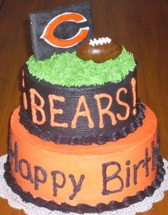Outstanding Chicago Bears With Images Chicago Bears Cake Bear Cupcakes Funny Birthday Cards Online Fluifree Goldxyz