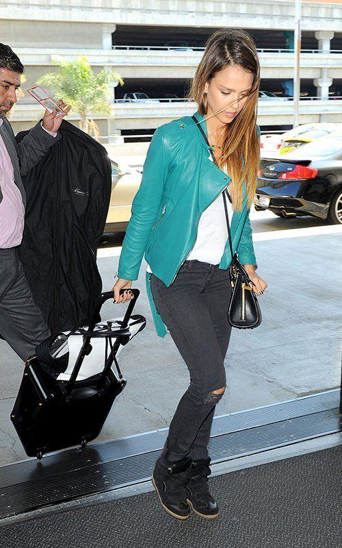 Jessica Alba @ LAX International Airport
