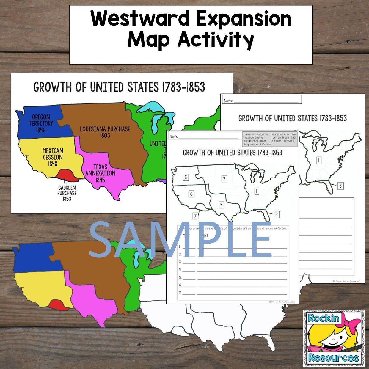 Westward Expansion Map Activity