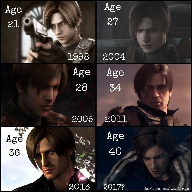 Leon S Kennedy S Canon Ages In The Game Movie All Screencaps