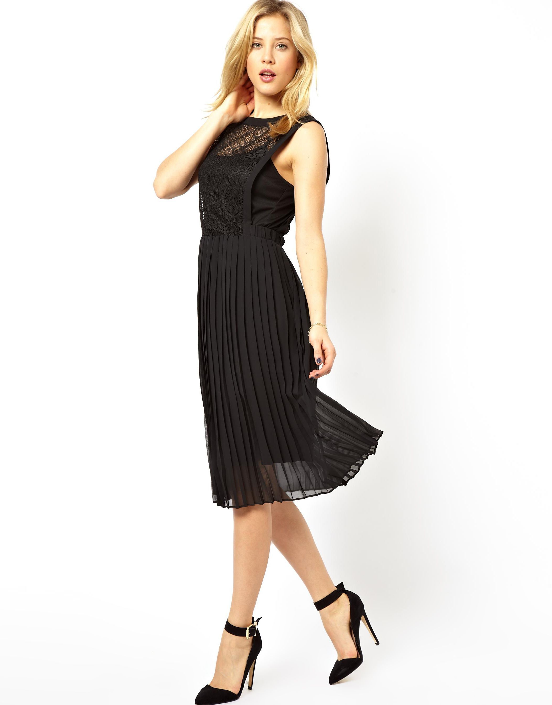 67ac53759 us.asos.com ---- asos black-lace-pleated-skirt-midi-dress ---- Tasha  Franken ---- 3405764 ----