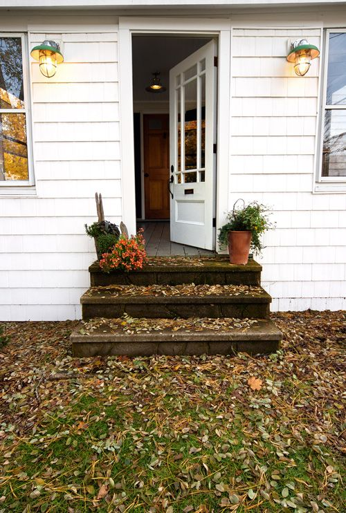 this is basically what ours looks like now except we have \ raised beds on either side and our front door is older and uglier than this one. oh and we have ... & sneak peek: tyler karu and brendan ready | Front doors Doors and ...
