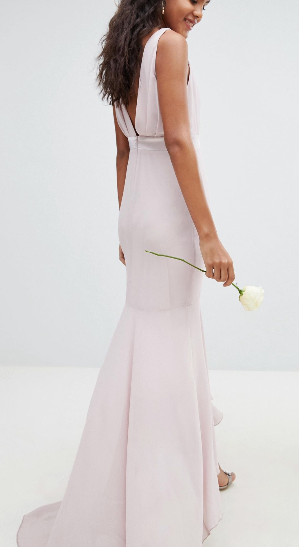 Tfnc Tall Maxi Bridesmaid Dress With High Low Hem At Asos