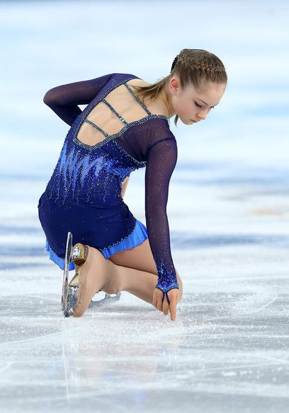 Yulia Lipnitskaya of Russia competes in the Figure Skating Team Ladies Short Program during day one of the Sochi 2014 Winter Olympics at Ice...