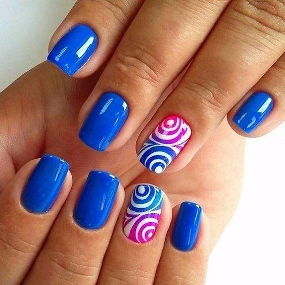 65 blue nail art ideas blue nails nail nail and pretty nails 65 blue nail art ideas prinsesfo Choice Image