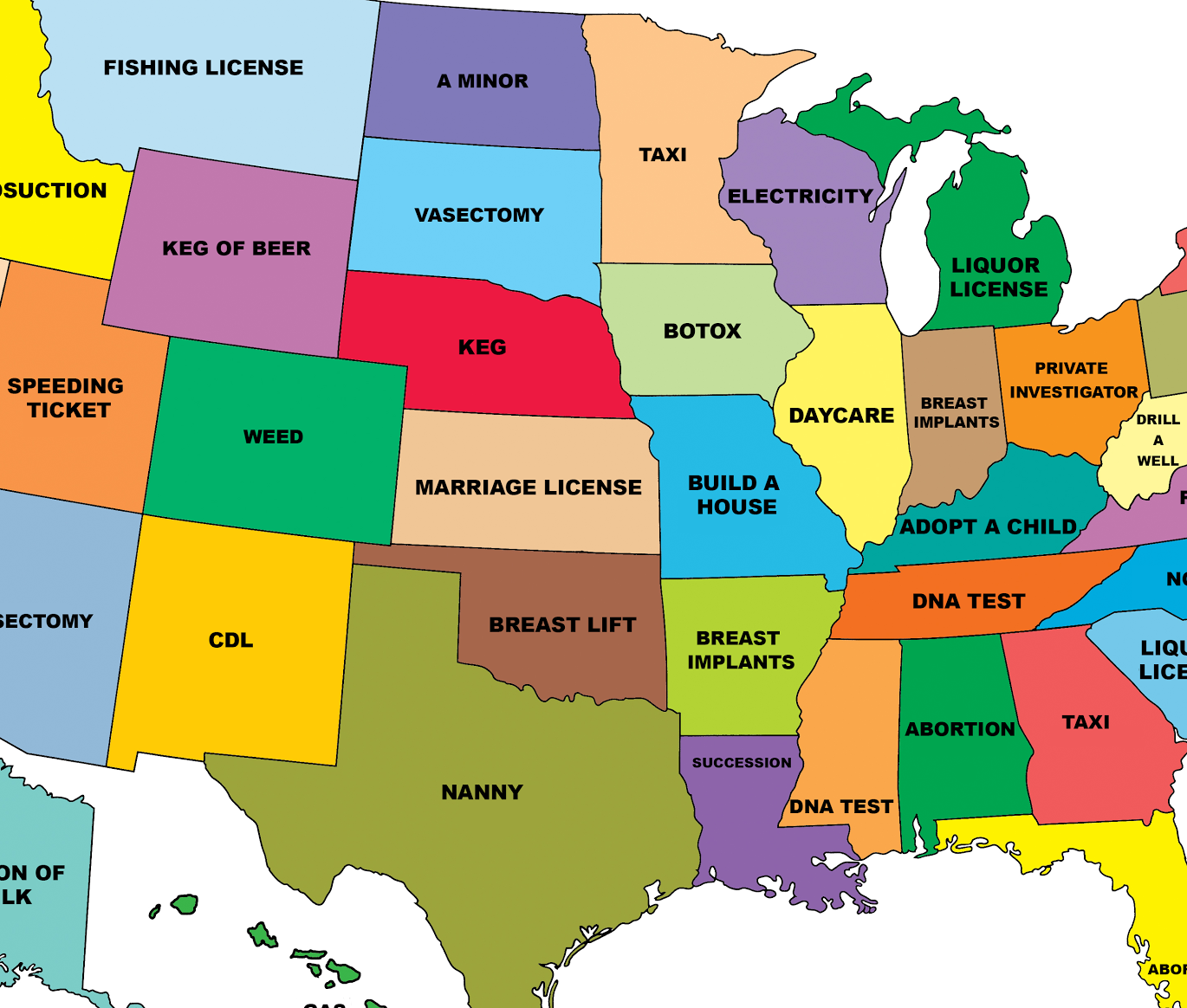 What Cost Is Each State Obsessed With With Images