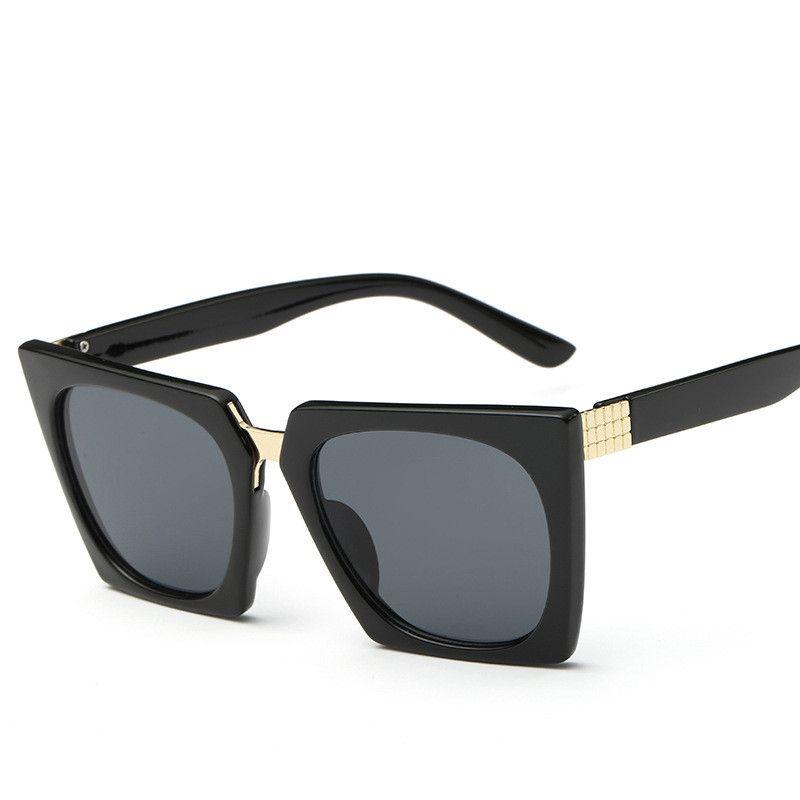 2017 Sunglasses Women Brand Shades Men Retro Flat Top Cat eye Glasses Design Vintage Sun glass Female Oculos