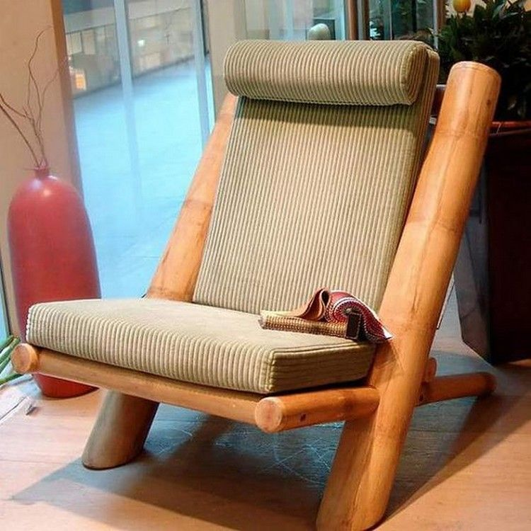 Top Easy And Attractive Diy Projects Using Bamboo Wood Chair