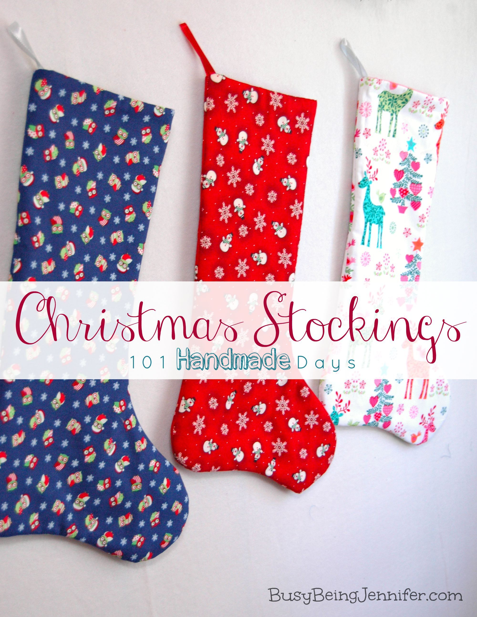 Not all Christmas Stockings need to be an elaborate undertaking. With some cute fabric