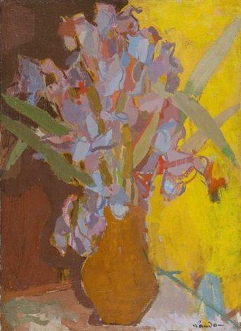 Kwiaty w wazonie by Zygmund Landau