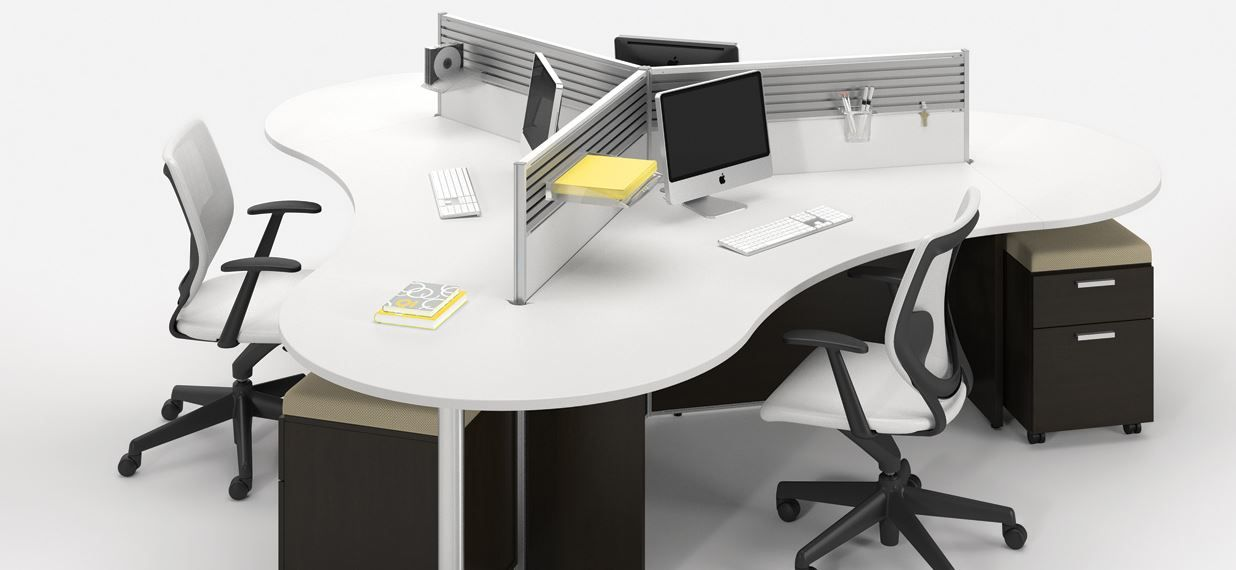 3h Open Plan Multistation Functional And Stylish Workstation