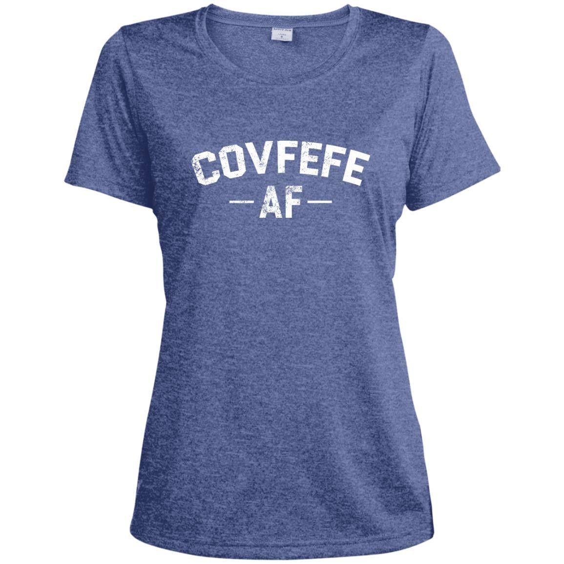 Covfefe AF LST360 Sport-Tek Ladies' Heather Dri-Fit Moisture-Wicking T-Shirt