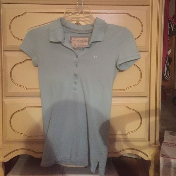 Light blue Aeropostale collared shirt Light blue Aeropostale collared shirt Aeropostale Tops