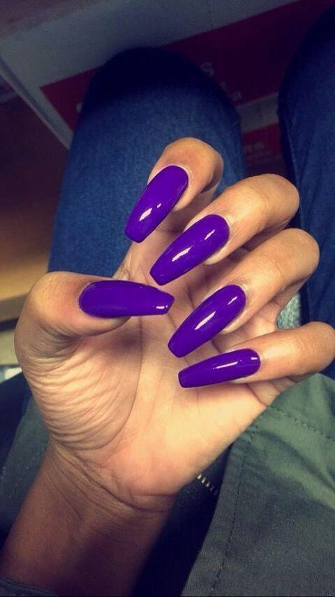 Neon purple nails | Purple acrylic nails