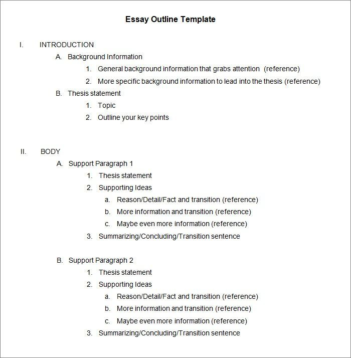 Essay Outline Template Word This Is Why Essay Outline Template Word Is So Famous